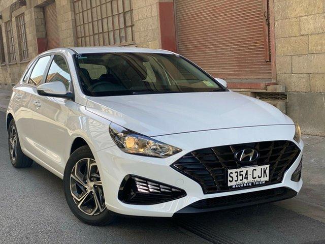 Demo Hyundai i30 PD.V4 MY21 Cheltenham, 2021 Hyundai i30 PD.V4 MY21 Polar White 6 Speed Manual Hatchback