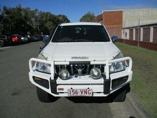 2007 Toyota Landcruiser Prado KDJ120R GXL White 5 Speed Automatic Wagon.