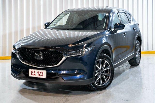 Used Mazda CX-5 KE1022 Akera SKYACTIV-Drive i-ACTIV AWD Hendra, 2017 Mazda CX-5 KE1022 Akera SKYACTIV-Drive i-ACTIV AWD Blue 6 Speed Sports Automatic Wagon
