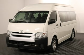 2017 Toyota HiAce KDH223R Commuter High Roof Super LWB French Vanilla 4 speed Automatic Bus.