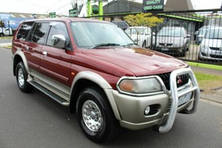 2001 Mitsubishi Challenger PA MY02 LS Red 4 Speed Automatic Wagon.