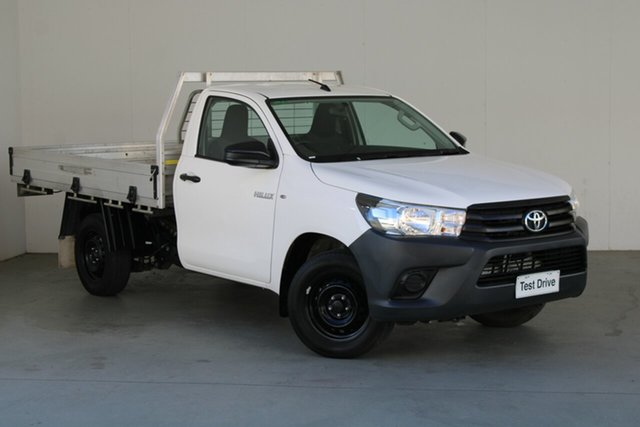 Used Toyota Hilux TGN121R Workmate 4x2 Phillip, 2019 Toyota Hilux TGN121R Workmate 4x2 White 6 Speed Sports Automatic Cab Chassis