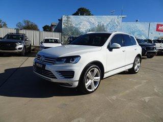 2015 Volkswagen Touareg 7P MY16 V8 TDI Tiptronic 4MOTION R-Line Pure White 8 Speed Automatic Wagon.