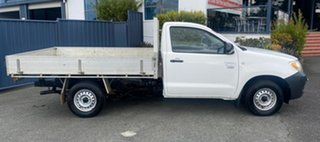 2008 Toyota Hilux TGN16R MY08 Workmate 4x2 Super White Ii 5 Speed Manual Cab Chassis.