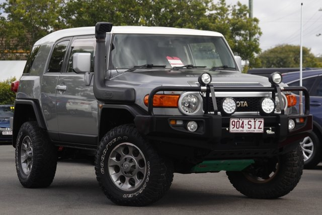 Used Toyota FJ Cruiser GSJ15R Mount Gravatt, 2012 Toyota FJ Cruiser GSJ15R Grey 5 Speed Automatic Wagon