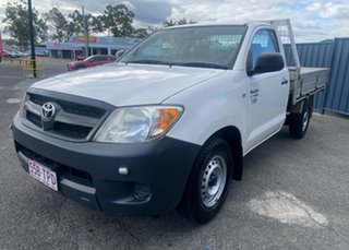2008 Toyota Hilux TGN16R MY08 Workmate 4x2 Super White Ii 5 Speed Manual Cab Chassis