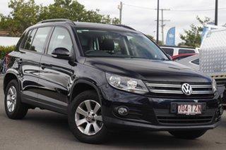 2014 Volkswagen Tiguan 5N MY14 132TSI DSG 4MOTION Pacific Black 7 Speed Sports Automatic Dual Clutch.