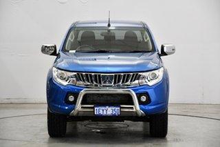 2015 Mitsubishi Triton MQ MY16 GLS Double Cab Blue 6 Speed Manual Utility.