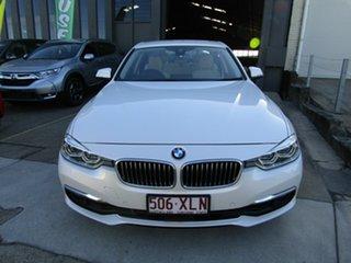 2016 BMW 3 Series F30 LCI 330i Luxury Line Pearl White 8 Speed Sports Automatic Sedan