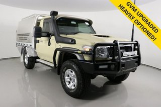 2019 Toyota Landcruiser VDJ79R GXL (4x4) Sandy Taupe 5 Speed Manual Cab Chassis.