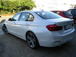 2016 BMW 3 Series F30 LCI 330i Luxury Line Pearl White 8 Speed Sports Automatic Sedan.