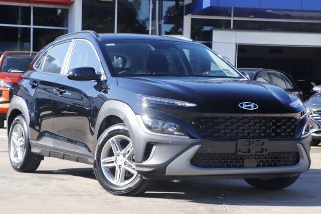 New Hyundai Kona Os.v4 MY21 2WD Beaudesert, 2021 Hyundai Kona Os.v4 MY21 2WD Phantom Black 8 Speed Constant Variable Wagon
