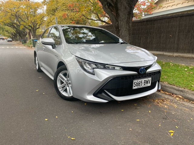 Pre-Owned Toyota Corolla ZWE211R Ascent Sport E-CVT Hybrid Hawthorn, 2018 Toyota Corolla ZWE211R Ascent Sport E-CVT Hybrid Silver 10 Speed Constant Variable Hatchback
