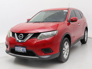 2015 Nissan X-Trail T32 TS (FWD) Red Continuous Variable Wagon.