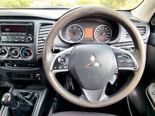 2015 Mitsubishi Triton MQ MY16 GLX Double Cab 4x2 White 6 Speed Manual Utility