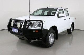 2018 Isuzu D-MAX TF MY18 SX (4x4) White 6 Speed Automatic Crew Cab Chassis.