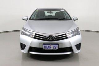 2015 Toyota Corolla ZRE172R Ascent Silver 7 Speed CVT Auto Sequential Sedan.