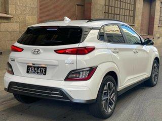 2021 Hyundai Kona Os.v4 MY21 electric Highlander Atlas White 1 Speed Automatic Wagon.