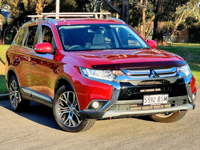 Used Mitsubishi Outlander ZK MY17 LS 4WD Safety Pack Morphett Vale, 2017 Mitsubishi Outlander ZK MY17 LS 4WD Safety Pack Red Metallic 6 Speed Sports Automatic Wagon