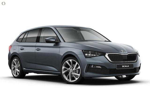 New Skoda Scala NW MY21 110TSI DSG Seaford, 2021 Skoda Scala NW MY21 110TSI DSG Grey 7 Speed Sports Automatic Dual Clutch Hatchback