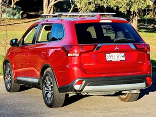 2017 Mitsubishi Outlander ZK MY17 LS 4WD Safety Pack Red Metallic 6 Speed Sports Automatic Wagon