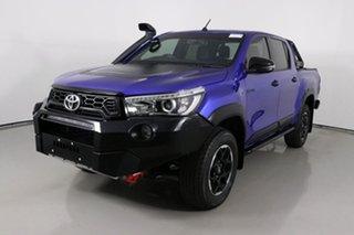 2018 Toyota Hilux GUN126R Rugged X (4x4) Blue 6 Speed Automatic Dual Cab Utility.