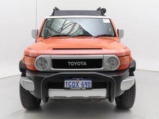 2012 Toyota FJ Cruiser GSJ15R Orange 5 Speed Automatic Wagon.