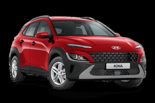 Demo Hyundai Kona Os.v4 MY21 2WD Hamilton, 2021 Hyundai Kona Os.v4 MY21 2WD Ignite Flame 8 Speed Constant Variable Wagon