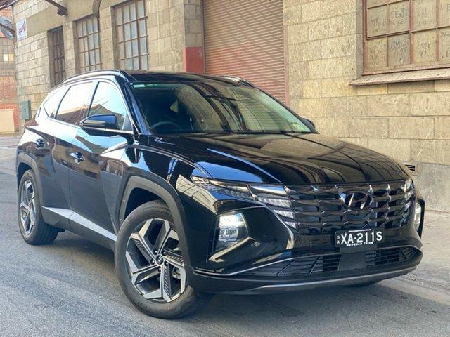 Demo Hyundai Tucson NX4.V1 MY22 Highlander 2WD Cheltenham, 2021 Hyundai Tucson NX4.V1 MY22 Highlander 2WD Phantom Black 6 Speed Automatic Wagon