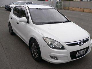 2011 Hyundai i30 FD MY11 Trophy White 5 Speed Manual Hatchback.