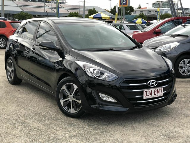 Used Hyundai i30 GD3 Series II MY16 Active X Chermside, 2015 Hyundai i30 GD3 Series II MY16 Active X Black 6 Speed Sports Automatic Hatchback