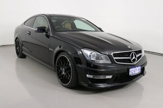 2013 Mercedes-Benz C63 W204 MY13 AMG Black 7 Speed Automatic G-Tronic Coupe.