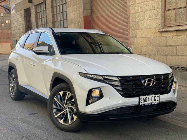 Demo Hyundai Tucson NX4.V1 MY22 Elite 2WD Cheltenham, 2021 Hyundai Tucson NX4.V1 MY22 Elite 2WD White Cream 6 Speed Automatic Wagon