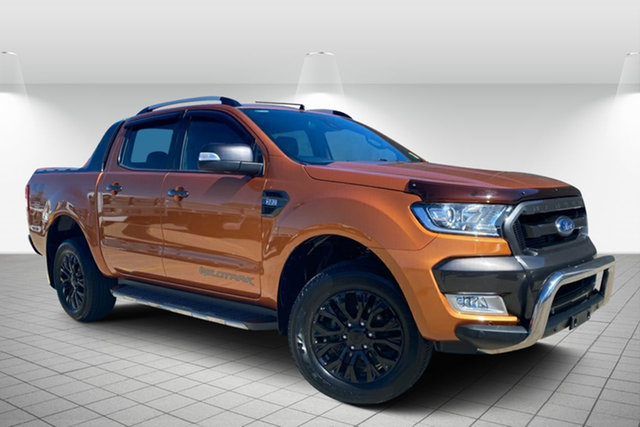 Used Ford Ranger PX MkII Wildtrak Double Cab Hervey Bay, 2016 Ford Ranger PX MkII Wildtrak Double Cab Orange 6 Speed Sports Automatic Utility