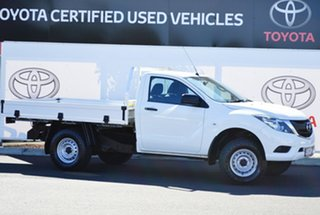 2016 Mazda BT-50 MY16 XT Hi-Rider (4x2) White 6 Speed Automatic Cab Chassis.