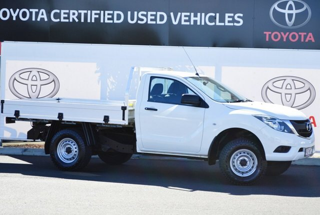 Pre-Owned Mazda BT-50 MY16 XT Hi-Rider (4x2) Warwick, 2016 Mazda BT-50 MY16 XT Hi-Rider (4x2) White 6 Speed Automatic Cab Chassis