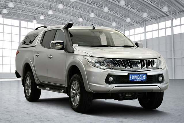 Used Mitsubishi Triton MQ MY16 Exceed Double Cab Victoria Park, 2015 Mitsubishi Triton MQ MY16 Exceed Double Cab Silver 5 Speed Sports Automatic Utility