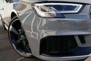2017 Audi RS 3 8V MY18 Sportback S Tronic Quattro Nardo Grey 7 Speed Sports Automatic Dual Clutch.