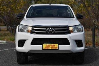 2015 Toyota Hilux GUN126R SR Double Cab White 6 Speed Sports Automatic Utility.