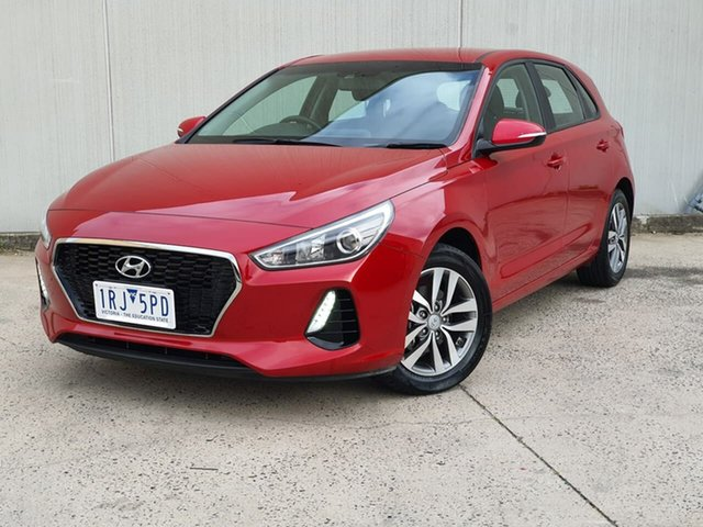 Used Hyundai i30 PD MY18 Active Oakleigh, 2018 Hyundai i30 PD MY18 Active Red 6 Speed Sports Automatic Hatchback