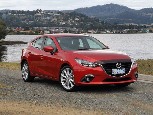 Used Mazda 3 BM5438 SP25 SKYACTIV-Drive Glenorchy, 2014 Mazda 3 BM5438 SP25 SKYACTIV-Drive Red 6 Speed Sports Automatic Hatchback
