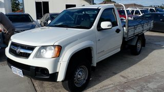 2009 Holden Colorado RC MY09 LX 4x2 White 4 Speed Automatic Cab Chassis.