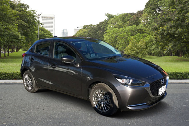 Demo Mazda 2 DJ2HAA G15 SKYACTIV-Drive Evolve Paradise, 2021 Mazda 2 DJ2HAA G15 SKYACTIV-Drive Evolve Machine Grey 6 Speed Sports Automatic Hatchback
