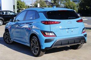 2021 Hyundai Kona Os.v4 MY21 N-Line D-CT AWD Premium Surfy Blue 7 Speed Sports Automatic Dual Clutch.
