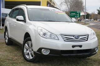 2012 Subaru Outback B5A MY12 2.5i AWD White 6 Speed Manual Wagon.