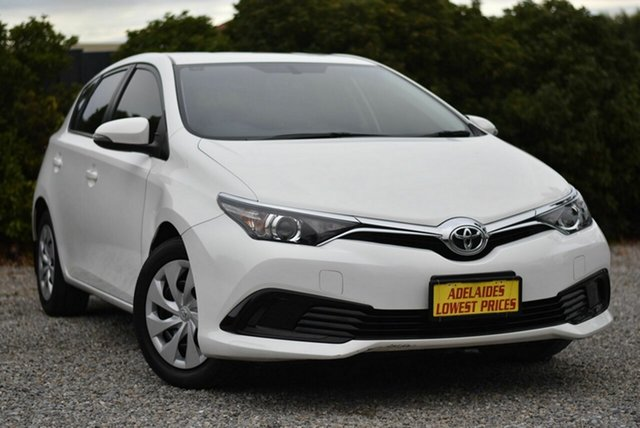 Used Toyota Corolla ZRE182R Ascent S-CVT Morphett Vale, 2018 Toyota Corolla ZRE182R Ascent S-CVT White 7 Speed Constant Variable Hatchback