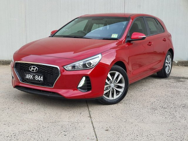 Used Hyundai i30 PD MY18 Active Oakleigh, 2017 Hyundai i30 PD MY18 Active Red 6 Speed Sports Automatic Hatchback