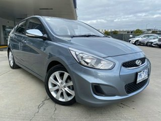 2017 Hyundai Accent RB6 MY18 Sport Silver 6 Speed Sports Automatic Hatchback.