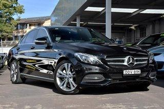 2014 Mercedes-Benz C-Class W204 MY14 C200 7G-Tronic + Elegance Black 7 Speed Sports Automatic Sedan.
