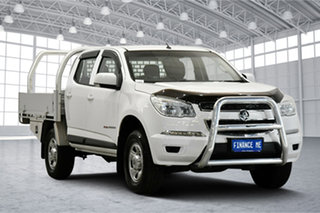 2015 Holden Colorado RG MY16 LS Crew Cab Silver 6 Speed Manual Cab Chassis.